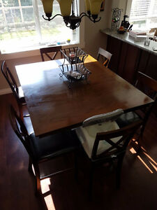 Dark Brown/ Pub Style Dining Set for Sale