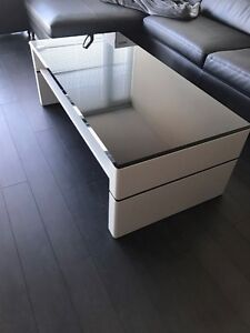 Coffee Table - Black Glass