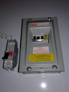 Federal Pioneer 60 amp panel with breaker and arc fault breaker