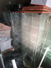 4*Ikea display cabinet DETOLF Glass-door cabinet, white43x163 cm