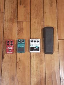 Guitar pedals for sale (EHX, TC, Boss, Dunlop)