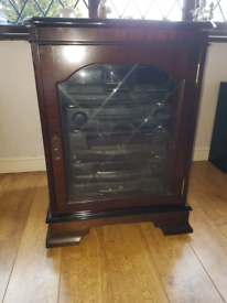 Matching mahogany TV cabinet and stereo cabinet