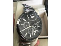 Mens Armani watch small wrists fully working good con