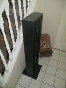 Black Slim CD Storage Tower