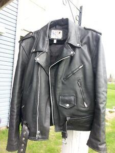 Manteau de moto en cuir