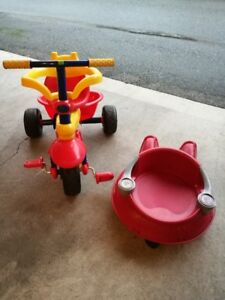 one baby bike and one baby cart for sale