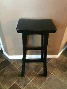 3 wood barstools