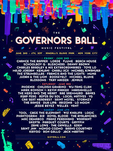 2 x Governors Ball tickets NYC