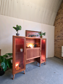 Danish Mid Century Bookcase Sideboard by D Scan