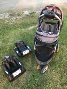 Stroller and Carrier Set