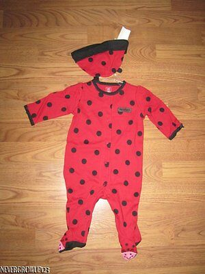 CARTER'S MY 1ST HALLOWEEN LADY BUG OUTFIT~COSTUME~NEWBORN~3MO~6MO~NWT