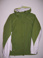 --- Columbia green and white ski jacket size small $20