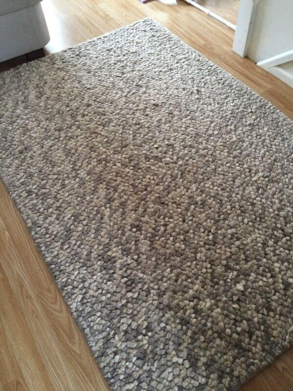 John Lewis Pebble Jelly Beans Carpet Rug Size 180 X 120 Grey Beige Natural Colour