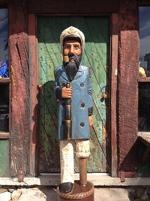 John Gallagher Carved Wooden Sea Captain 6 ft. Cigar Store Indian