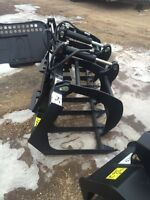Grapple bucket for skid steer or small tractor