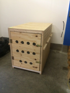 XXL Custom dog Crate (Wood) - Airlines approved
