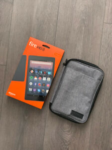 Amazon Fire HD 8 Tablet with Carrying Case! - BRAND NEW!