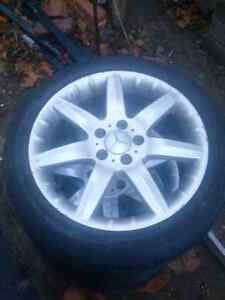 17 inch mercedes rims and tires Kitchener / Waterloo Kitchener Area image 1