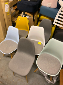 Chairs with wooden legs only £20. £25. Real Bargains Clearance Outlet