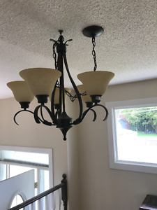 Set of lights  - chandelier(s) plus 2 wall mounted lights