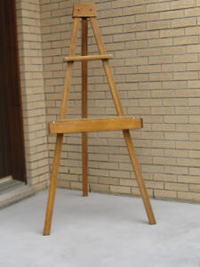 solid pine easel
