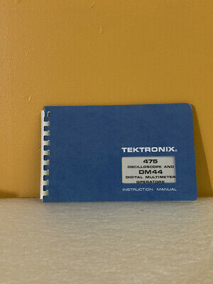 Tektronix 070-2039-00 475 Oscilloscope Dm44 Digital Multimeter Operator Manual
