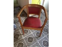 Wood red bedroom hall dressing table bucket chair seat spare