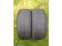 2 x 225/45/17 Continental tyres