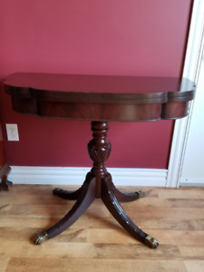 Solid Mahogany Games Table