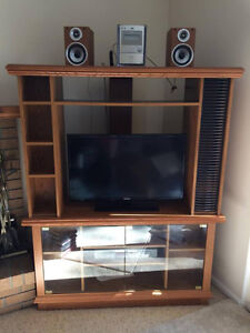 Used Wood Entertainment Center for Sale!