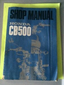 1970? Honda CB500F Shop Manual
