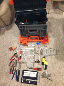 Large tool box with tools included