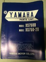 1977 Yamaha XS750D XS750-2D Parts List