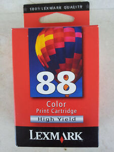 LEXMARK 88 COLOR PRINT CARTRIDGES X 3 - HIGH YIELD - BRAND NEW