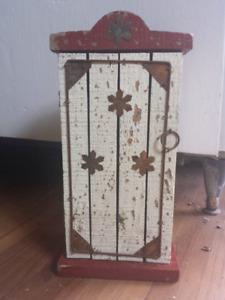 Cute tiny rustic cabinet