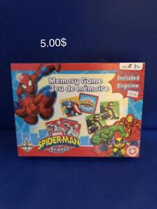 Jeux de mémoire Spiderman