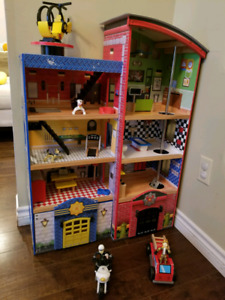 Firehouse/police station playhouse