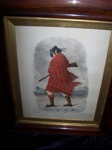 "LITHOGRAPH ""MAC NACHTAN by RR MCIAN,VERY OLD.LOVELY FRAME."