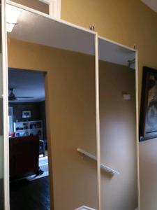 Mirrored sliding doors