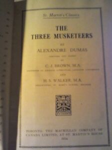 The Three Musketeers Book/Heartbeat Thrift Store/BayView Mall Belleville Belleville Area image 1