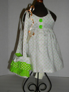Designer sundress and purse for 18 inch American Girl dolls.