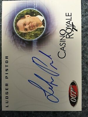 James Bond In Motion Autograph Card A100 Ludger Pistor