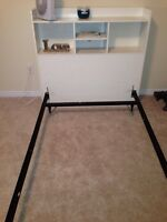 single bed with shelf & box spring