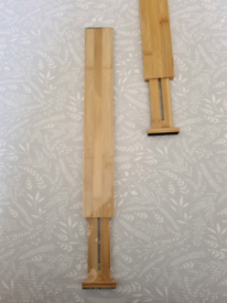 x2 bamboo drawer dividers