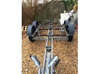 Snipe twin axle boat trailer lots of new parts