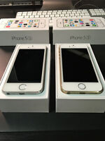 Two iPhone 5S 's (Champagne and Silver) - 16GB