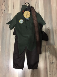 REDUCED TO $18- Peter Pan Costume-Child (hat/belt/booties too)