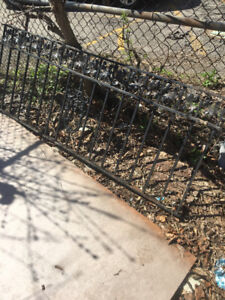 Stunning salvaged Iron Railing, fencing and gate.