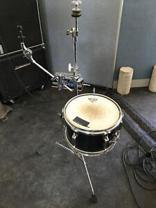 "Tama 6 x 10"" snare (blue fleck), stand, misc clamps, remo heads"
