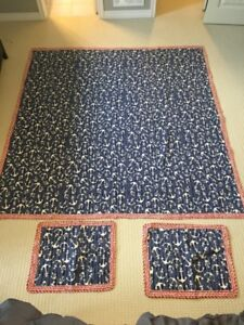 Pottery Barn blanket for kid's room, nautical theme